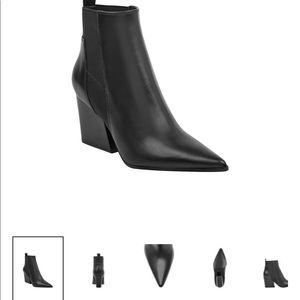 NEW! Kendall and Kylie black leather boot shoe